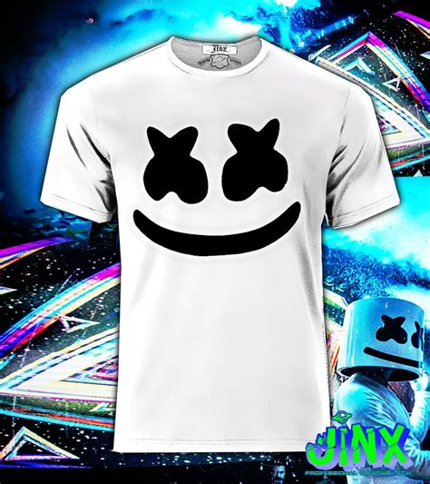 playera o camiseta marshmello jinx his wardrobe marshmello helmet shirts artists