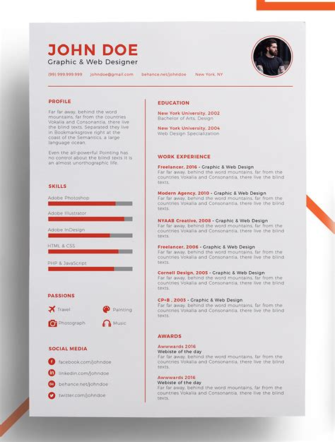 Resume Template 2018 Improve Your Resume Template 2018 To Get Noticed Resume 2018