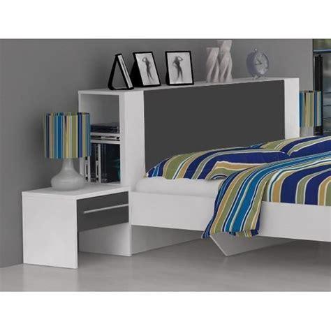 exemple chambre ado lit avec rangement et décoration de tête de lit