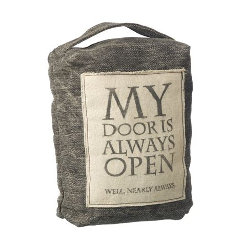 my door is always open fabric doorstop gifts home accessories