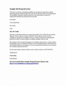 Sample job proposal letter for Hiring proposal template