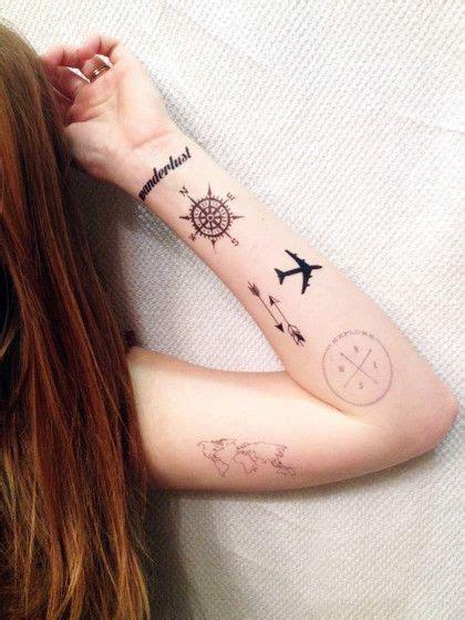 eine collage aus reise tattoos f 252 r echt travel fans