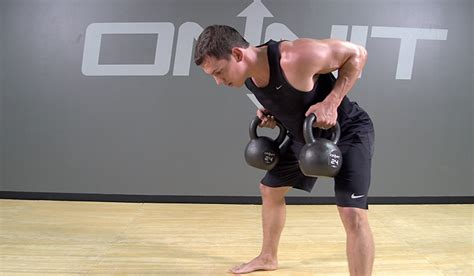 kettlebell exercises muscle bent row double exercise bentover build academy onnit