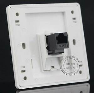 Wall Socket Plate One Port Network Ethernet Lan Cat6