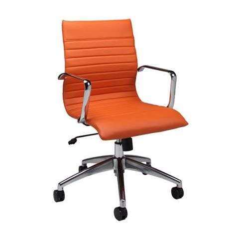 pastel furniture janette office chair in orange qljn16477982