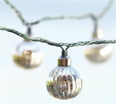mercury glass globe string lights contemporary outdoor