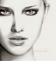 Female Face Pencil Drawing