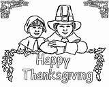Coloring Pilgrim Thanksgiving Printable Lots Even sketch template