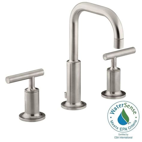 Kohler Purist Faucet Polished Nickel by Kohler Purist 8 In Widespread 2 Handle Water Saving