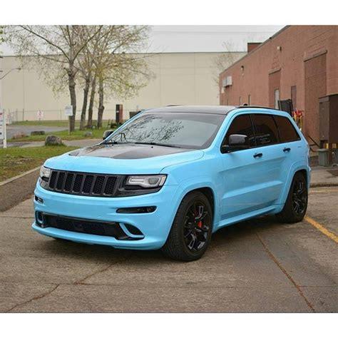 light blue jeep grand cherokee 3m sky blue jeep grand cherokee srt whips pinterest