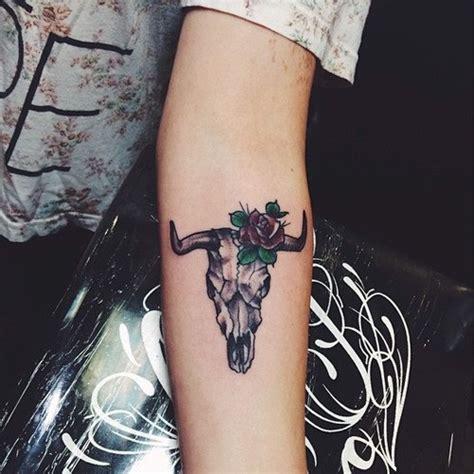 jordan hinson animal skull rose forearm tattoo steal