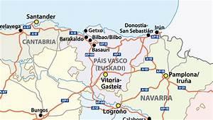 Mapa Rios Pais Vasco