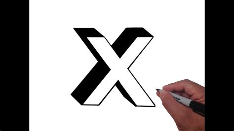 How To Draw Letter X In Lowercase 3d