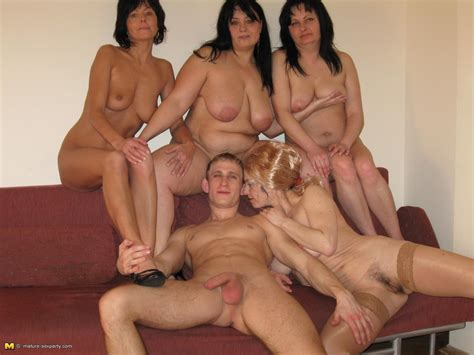 Four Horny Mamas Doing One Strapping Butler