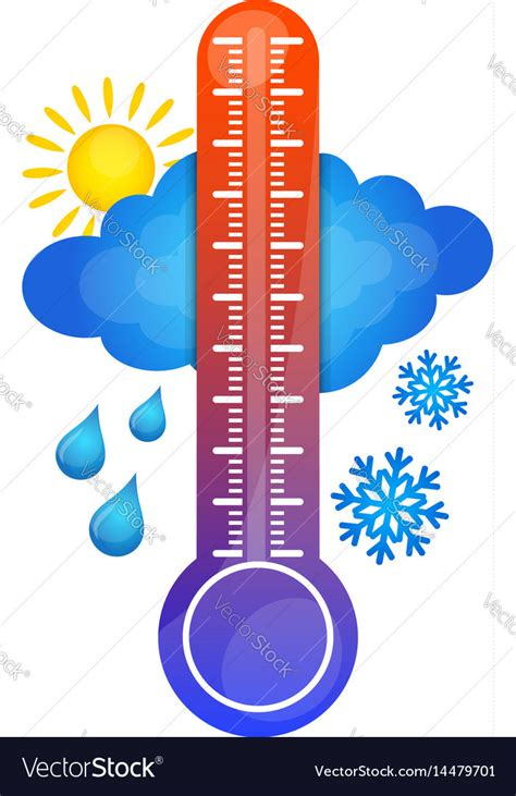 Symbol of temperature change Royalty Free Vector Image