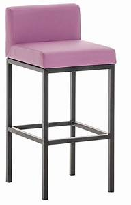 Chaise Haute Metal : chaise haute m tal noir et simili violet kontoir ~ Teatrodelosmanantiales.com Idées de Décoration