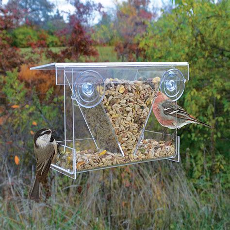 window bird feeder clear view hopper window bird feeder
