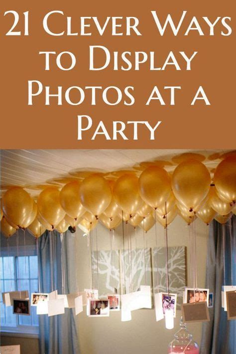 20+ Creative & Easy Ways to Use Photos as Party