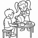 Coloring Tea Colouring Cartoon Clipart Sheet Autism Cliparts Boy Boston Children Clip Retirement Library Child Frank Anne Barn Fleur Lis sketch template