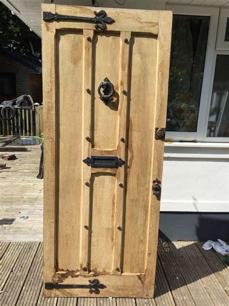 large solid oak front door period wood reclaimed rustic