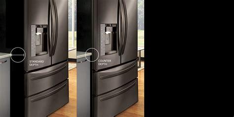 refrigerator cabinet depth lg refrigerators smart innovative energy efficient