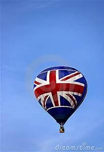 Union Jack UK Flag Hot Air Balloons Rising Stock Images ...