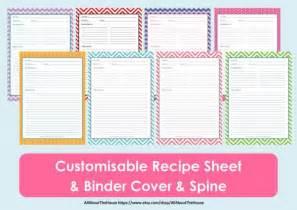 Free Printable Recipe Binder Cover Template