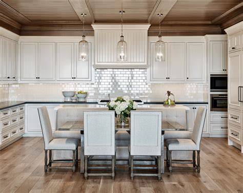 kitchen island with banquette summit vista calvis wyant luxury homes scottsdale az 5196