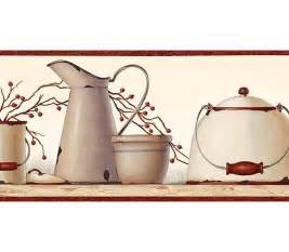 kitchen borders ideas country kitchen wallpaper border primitive vintage and misc decorating ideas