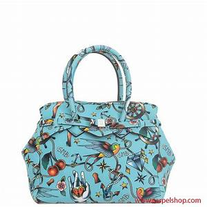 21ec77117a Borsa Save My Bag Miss Tattoo Celeste - Borse, Save My Bag - Carpel Shop