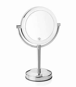 Miroir Rond Lumineux : miroir grossissant x3 lumineux sur pied lola ~ Zukunftsfamilie.com Idées de Décoration