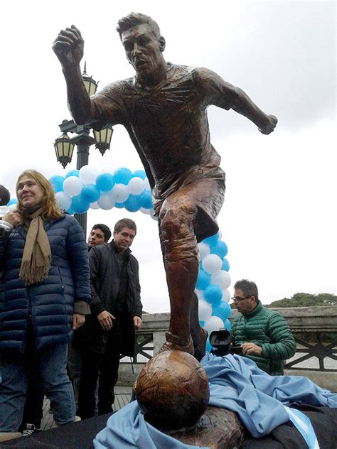 Lionel Messi Statue Ripped In Half In Argentine Capital