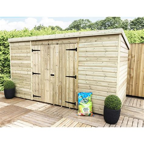 4 x 10 shed 10 x 4 pressure treated windowless tongue and groove pent