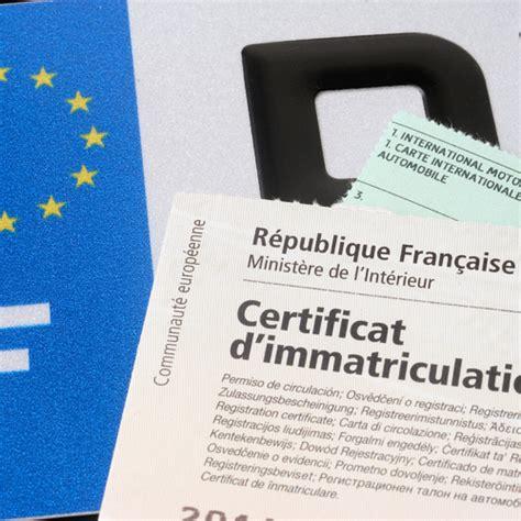 refaire une carte grise perdue comment barrer un certificat d immatriculation ooreka