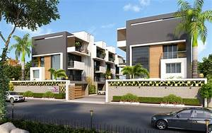 Exterior Residential Apartment Cgi View Design Rendering