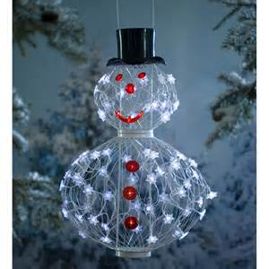 solar snowman decoration in outdoor holiday decorations