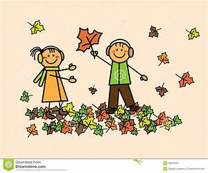Children With Autumn Leaves Stock Photography - Image ...