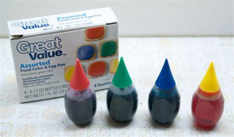 food coloring at walmart 6 droplet shaped bottles