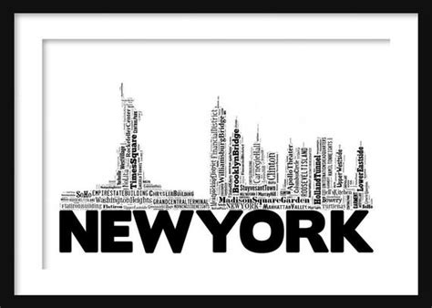 New York Skyline 2 Word Art Typography Print Poster Poster Art Auckland Ceramic Blog Hair Langley Canvas Using Sparklers Frame Yourself How To Do Nail Water Marble Letter J Projects Paintings Coffee