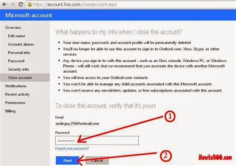 how do i delete an email account from my iphone how to delete your hotmail email account permanently