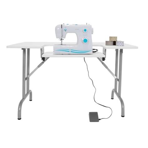 studio designs sewing table folding multipurpose sewing table white sew ready
