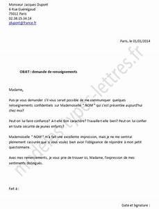 Demande De Pret Caf : mod le de lettre pour des renseignements conernant un emploi ~ Gottalentnigeria.com Avis de Voitures