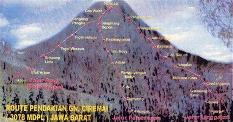 ilmu pendaki gunung jalur pendakian gunung ciremai