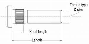 Wheel Stud 1  2 U0026quot  Unf Long Knurl Industrial