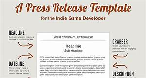 a press release template perfect for the indie game developer With app press release template
