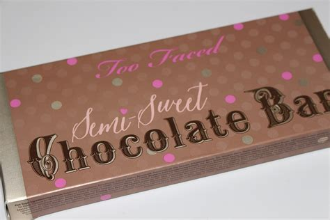 faced semi sweet chocolate bar palette review swatches  ree