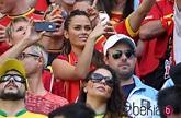 Marta Domínguez, novia de Thibaut Courtois, en el Mundial ...