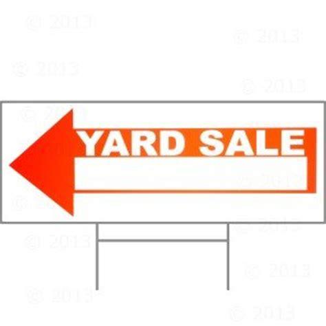 amazon com 9 x 24 yard sale sign w h stake home improvement