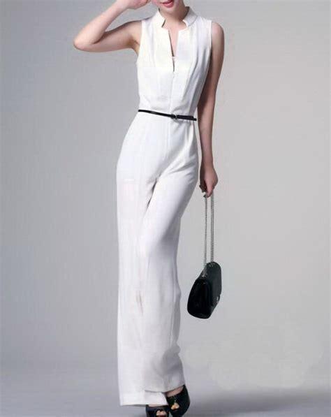 formal white jumpsuit unique design 39 s sleeveless formal jumpsuit