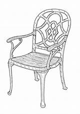 Coloring Furniture Pages sketch template